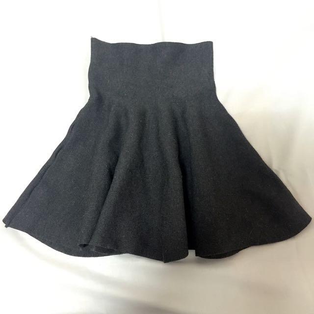 顯瘦彈性超大A字裙高腰裙
