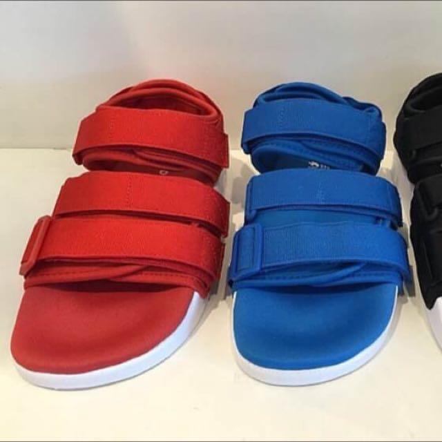 Adidas Adiletiie Sandal W 愛迪達 沙灘涼鞋 黑色 藍色 紅色 男女鞋款