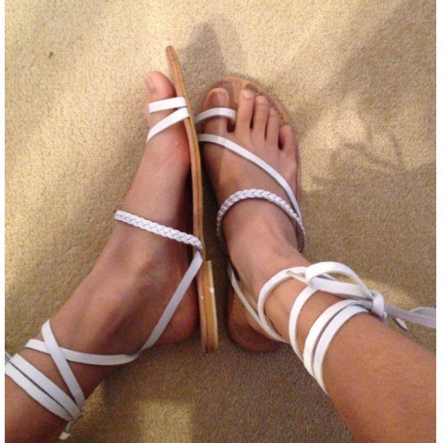 Asos strappy tie up sandals