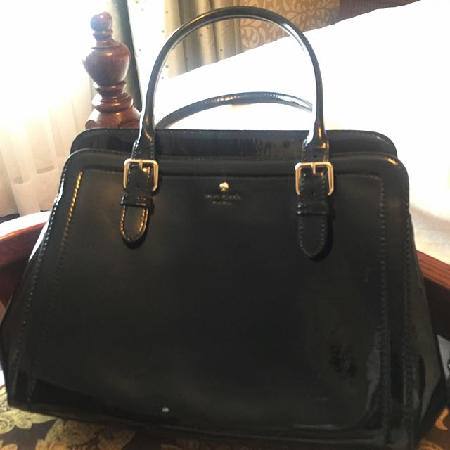 Authentic Kate Spade Black Patent Leather Executive Bag