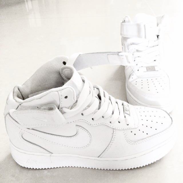 White Nike '82 CutSports Mid Force 1 On Carousell Authentic Air qVMUpSz