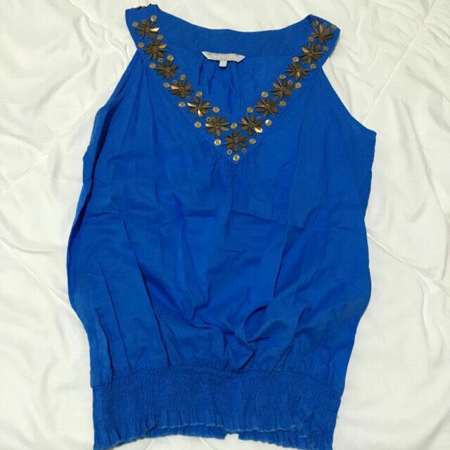 Blue saphire top