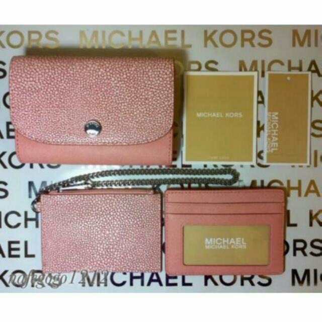 f4ee67e1c3f1 BNWT Authentic Michael Kors 3 In 1 Juliana Saffiano Leather Wallet ...