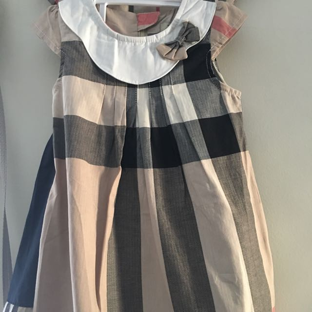 Burberry Pattern Girls Dress