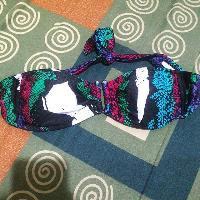Color snakeskin Bikini Top
