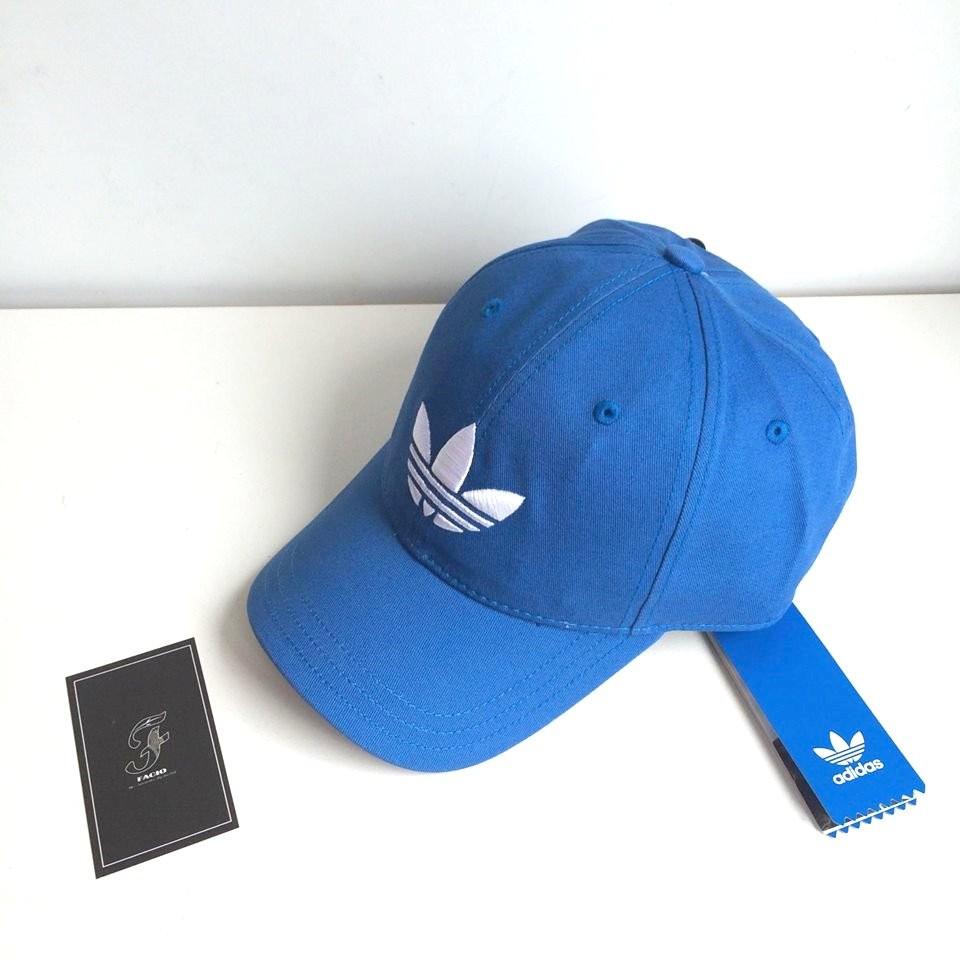 ☆FACIO桃園☆ 新款 ADIDAS TREFOIL CAP 經典 Logo 老帽 彎帽 經典藍 灰 國外公司貨 藍色 AJ8942  現貨