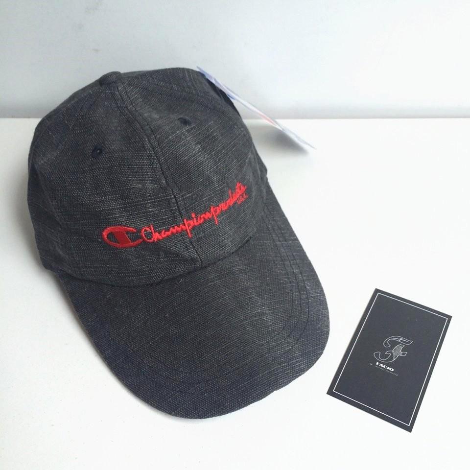 ☆FACIO桃園☆ 日本支線 CHAMPION Cap 冠軍 草寫 Logo 刷色 鴨舌 老帽 彎帽 灰 黑 紅 日本製 現貨