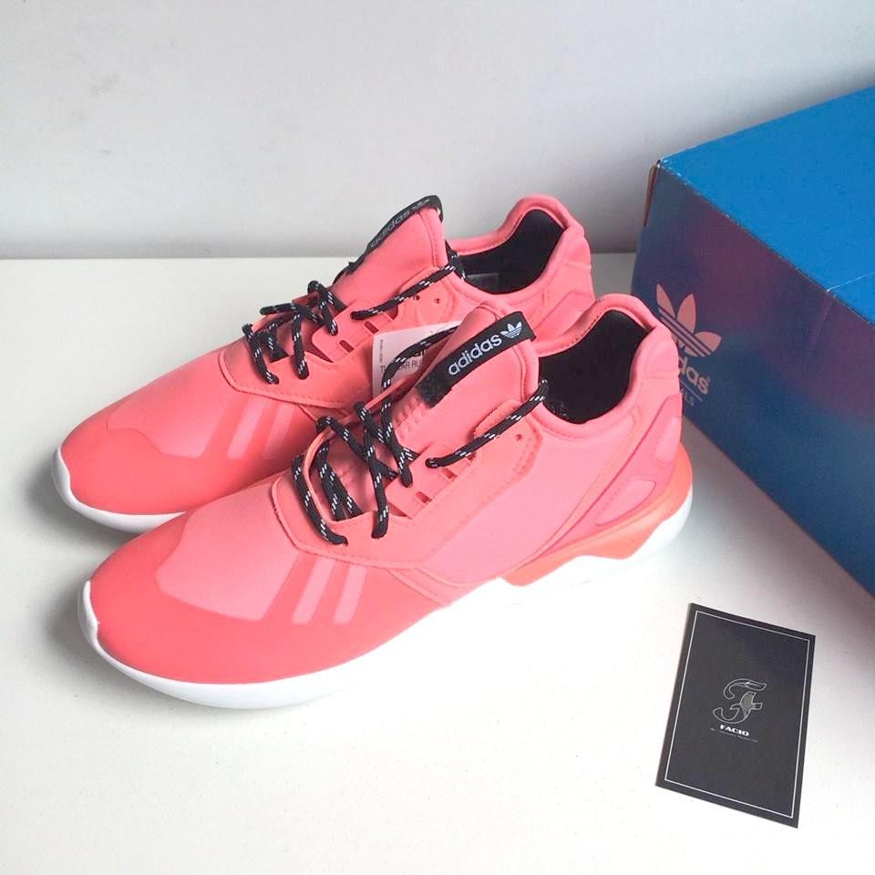 ☆FACIO桃園☆ADIDAS ORIGINALS TUBULAR RUNNER K 螢光 粉紅 桃紅 網布 慢跑鞋 女鞋 S77461 現貨