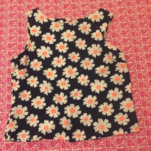 Flower Print Top
