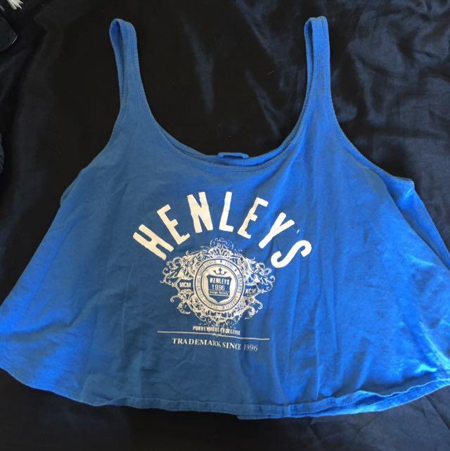Henleys Blue Singlet