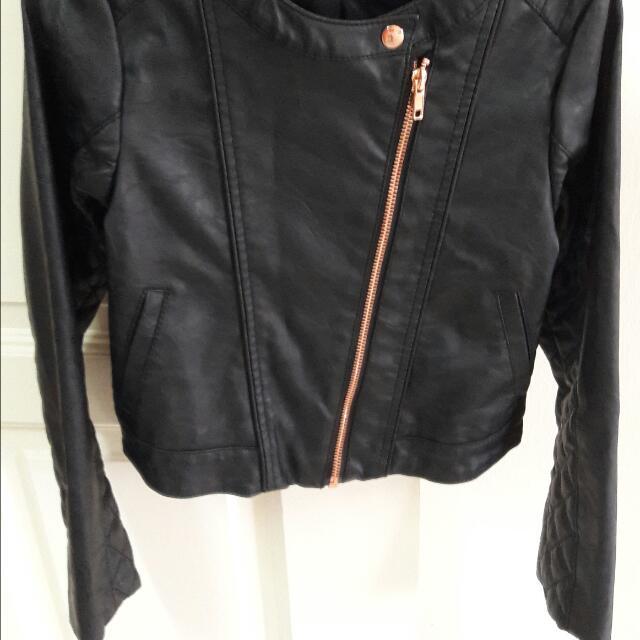 3704c79ec H M Kids Faux Leather Jacket