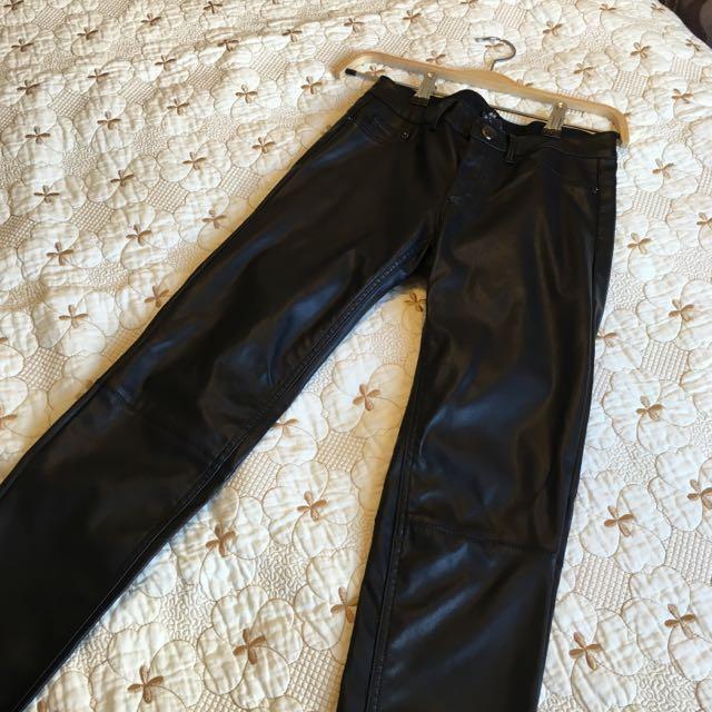 H&M Pleather Pants Size 2