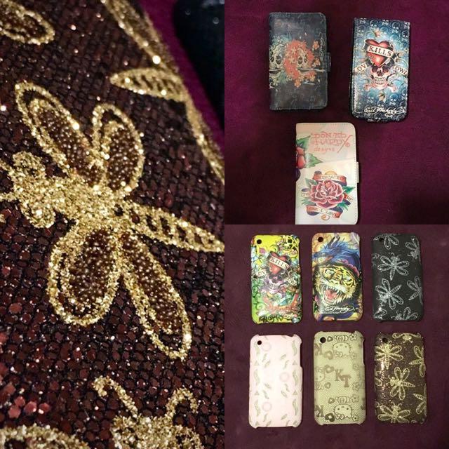 Bulk Lot X9 iPhone 3G Hard Cover And Flip Cover. Bulk Buy. Hello Kitty, Ed Hardy