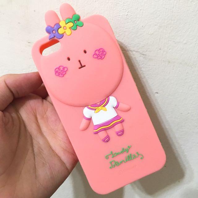 粉嫩動物森林兔兔軟質手機殼iPhone 5/5s