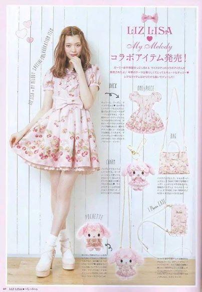 LIZ LISA 洋裝/連身裙 九代 美樂蒂 原單/ank rouge/日系軟妹