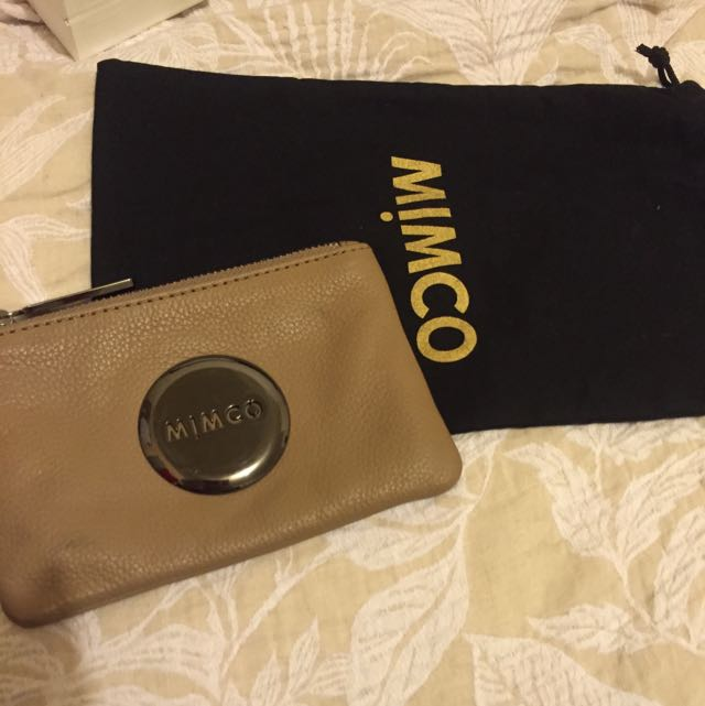 "Mimco Small mim pouch in ""donkey"""
