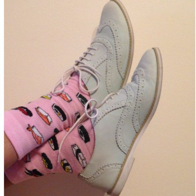 Mint topshop leather brogues