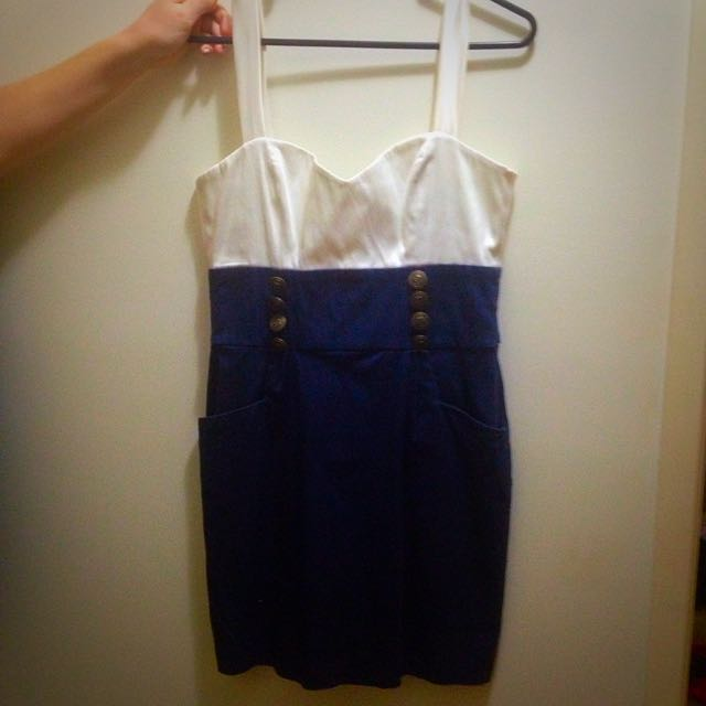 Navy Blue Sailor Dress