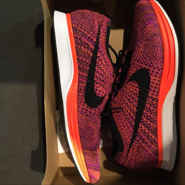 Nike Flyknit Racer Hyper Orange US10 DS