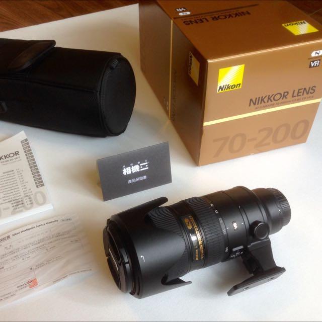 Nikon 原廠鏡頭 AF-S Nikkor 70-200mm f/2.8G ED VR2平輸