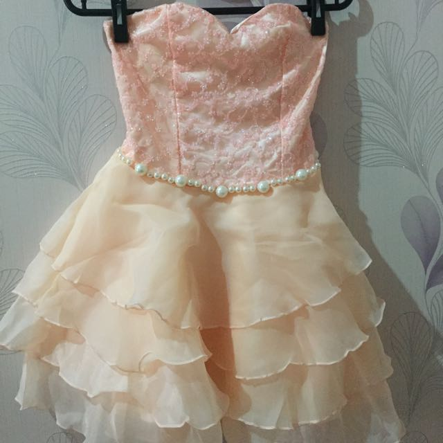 Peach Party Dress