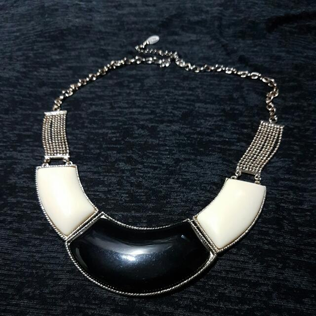 Statement Necklace In Black & White