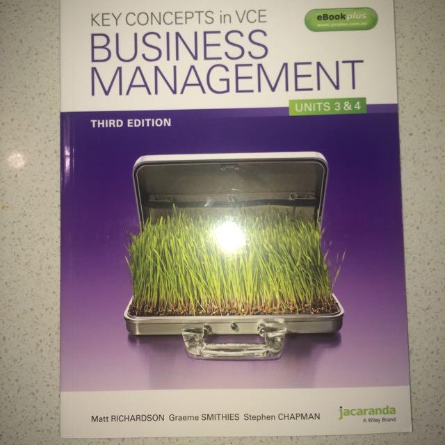 VCE Business Management Units 3 & 4