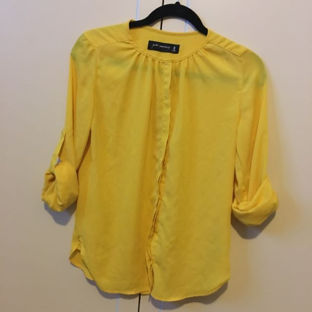 Yellow Long Sleeved Top