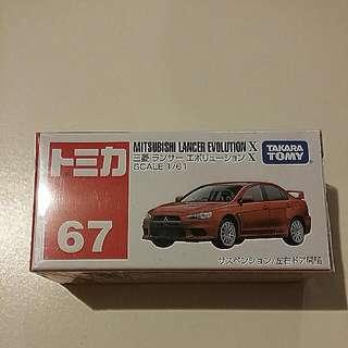 Tomica #67 Mitsubishi Lancer Evolution X (takara tomy)