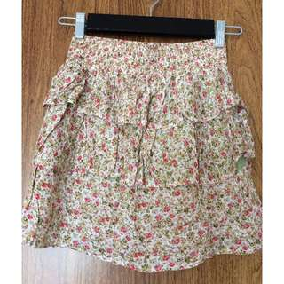 FLOWER PRINT HIGH WAISTED RUFFLE SKIRT - COSTA BLANCA SIZE SMALL - ALMOST NEW