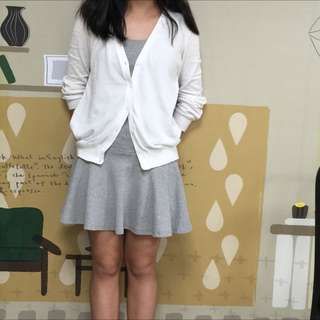 Lativ  抗UV針織外套+CACO棉質短洋裝