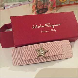 Authentic Salvatore Ferragamo Pink Bowknot Hairpin
