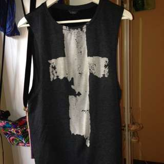 Muscle-t With Cross Print