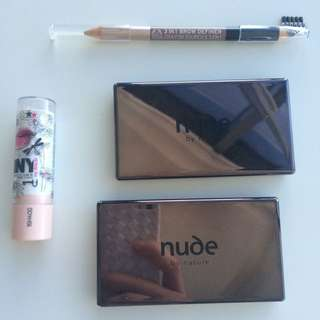 -$40 OFF// MUST GO Nude By Nature Eye Pallets & The Body Shop Eye Brow Set