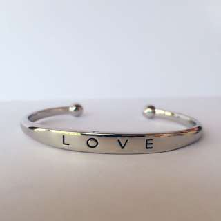 Silver Love Jewellery Bangle Bracelet - Simple Accessory