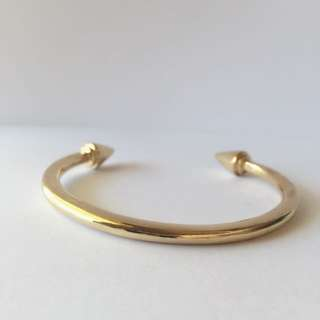 Simple Gold Bangle Bracelet With Spikes