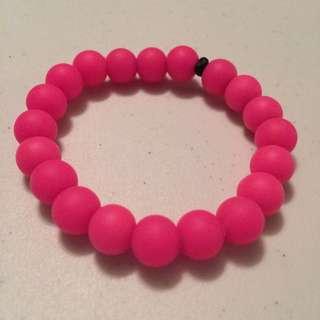 Pink Teething Bracelet