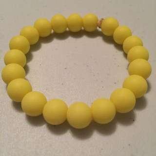 Yellow Teething Bracelet