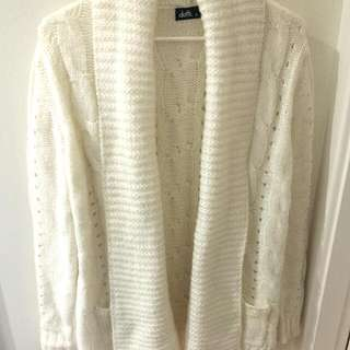 Dotti white cardigan/jacket/jumper