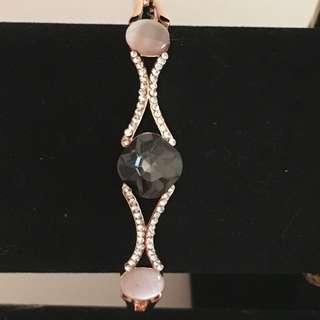 Black/ pink Gold Bracelet