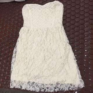 Brand new - Hollister cream Color Lace Tube Dress