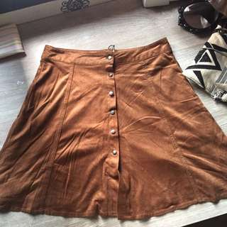 Bershka Suede Mini Skirt