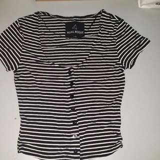 Brand New Striped Crop Top