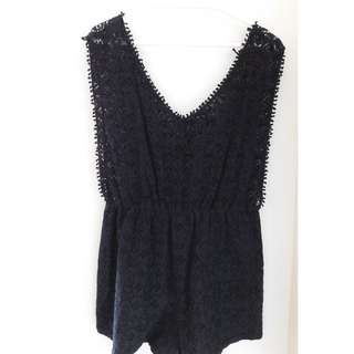Lacey Playsuit Black