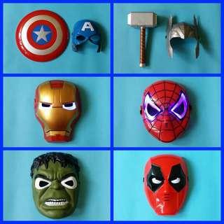 Avengers Hulk, Iron Man, Thor,Spiderman, Captain America Mask w/ Lights