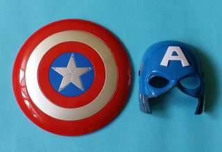 Halloween Captain America Mask and Shield with Lights