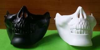 Halloween Half Face Skull Mask for Biking, Motorcycle, Cosplay
