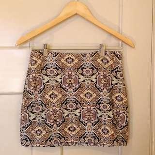 Zara Geometric A Line Skirt