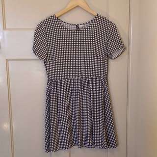 H&M Black and White Check Dress