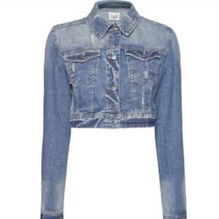 Mango crop jacket jeans